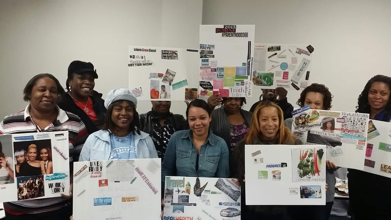 Recap Vision Board Workshop with Still Hope Foundation 1-10-15